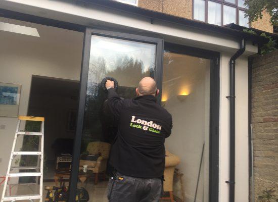 Bifold door glass replacement